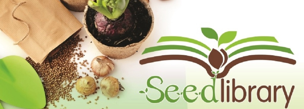 Seed Library seeds and logo