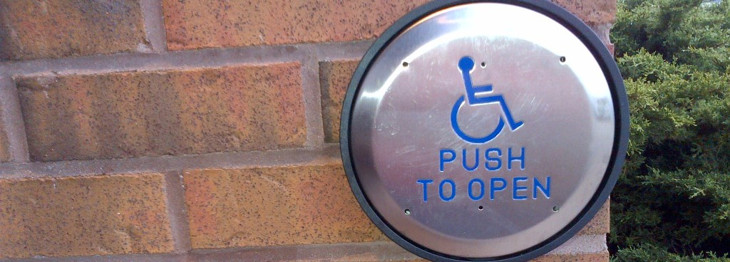 accessible push to open button