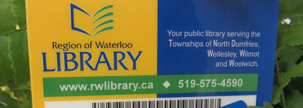 Region of Waterloo Library card